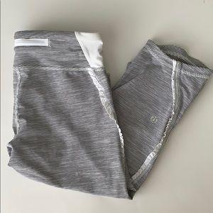 lululemon athletica Pants - Lululemon Capri stripe leggings 6